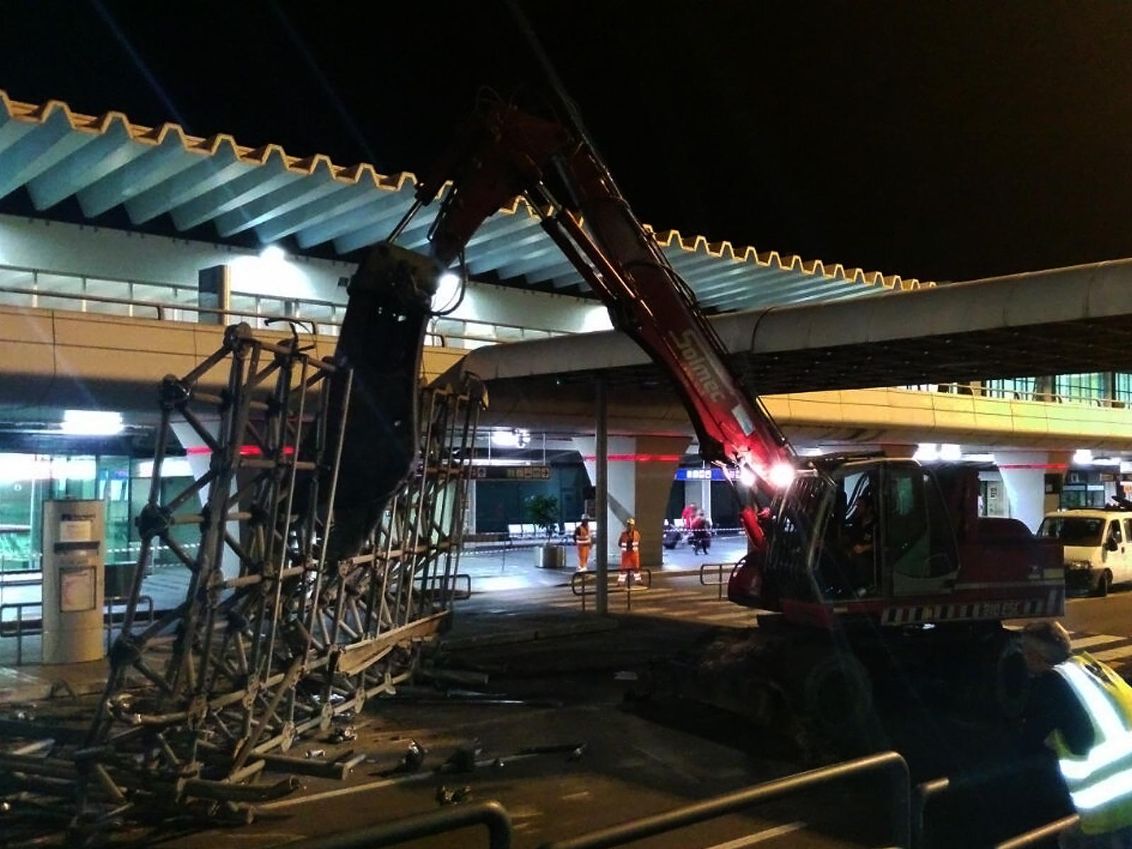 Echokal. Demolizione pensilina aeroporto Leonardo da Vinci